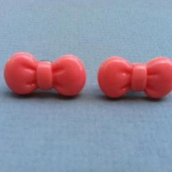 Pink Bow Earrings